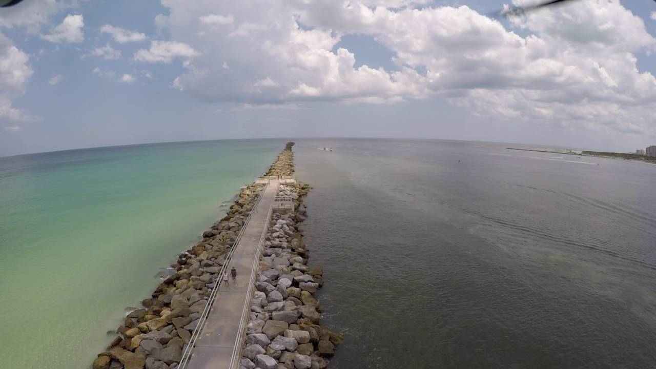 Ponce Inlet Jetty Florida Drone