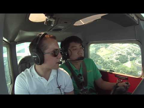 WADE: FIRST Flight LESSON and SOLO FLIGHT at Griffith Aviation