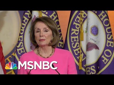 Feud Between Nancy Pelosi, Donald Trump Administration Hits New High   Andrea Mitchell   MSNBC