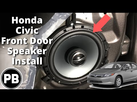 2012 - 2015 Honda Civic Front Door Speaker Install Alpine SPS-610 Alpine Speaker Wiring Diagram on