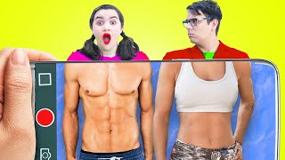 DAD VS DAUGHTER BODY SWAP FOR 24 HOURS  CRAZY CHALLENGE & FUNNY FAMILY SITUATIONS BY CRAFTY HACKS