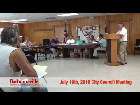Barboursville, WV City Council Meeting July 19, 2016