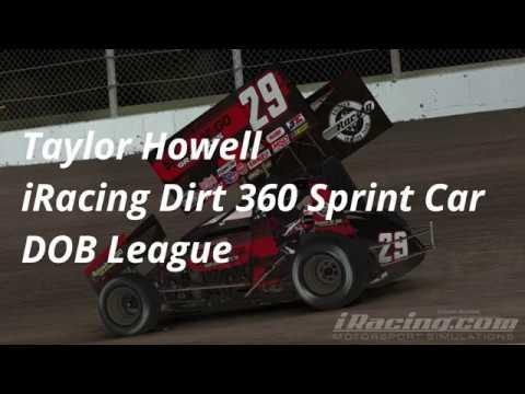Taylor Howell - iRacing 360 Dirt Sprint Car - Knoxville Raceway - DOB League - 4/23/19