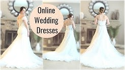 Trying On Affordable Online Wedding Dresses (Azazie.com)