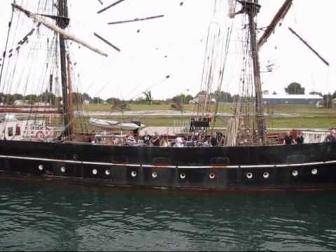 Barque Europa Arrival at Sault Ste Marie, Michigan.