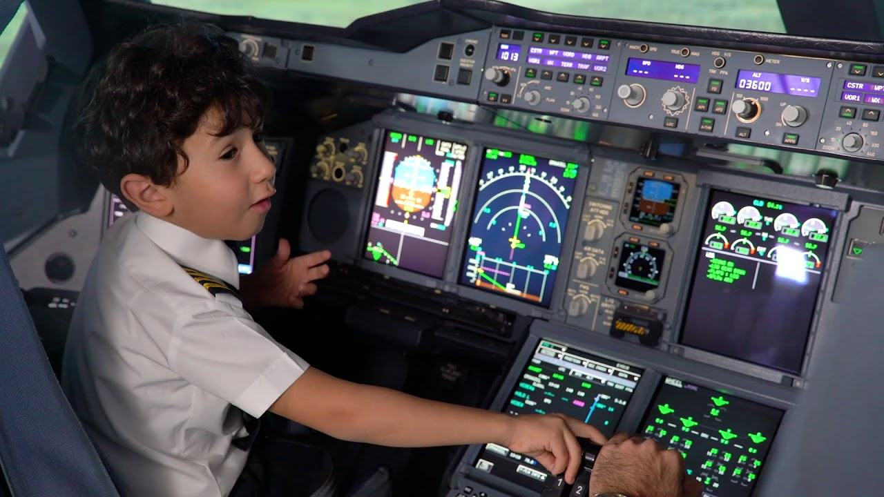 6 Year Old Genius Kid Becomes Etihad Airways Pilot For A