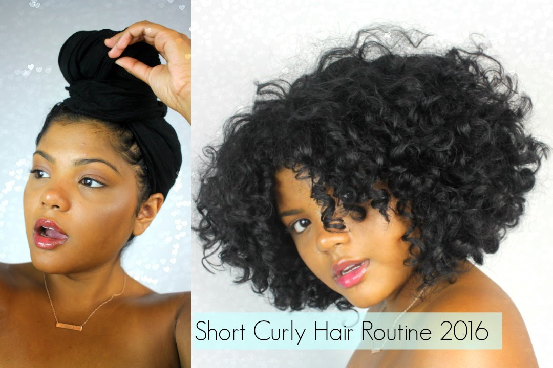 Short Curly Hair Routine 2016 YouTube