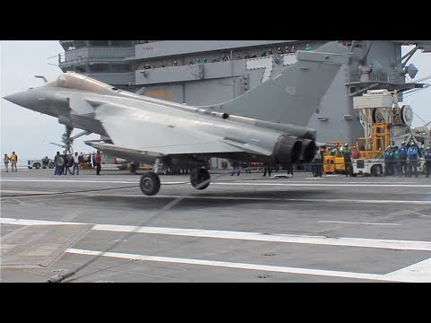 RAFALE M 15 May 2018 Carrier Landing USS GHW Bush CVN 77