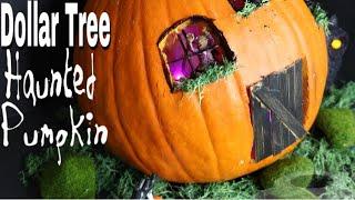 Dollar Tree DIY Fairy Garden Pumpkin House
