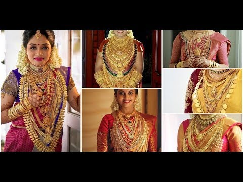 Kerala Bride With Heavy Jewelry||  Kerala Bride Gold  Jewelry Collections For Wedding