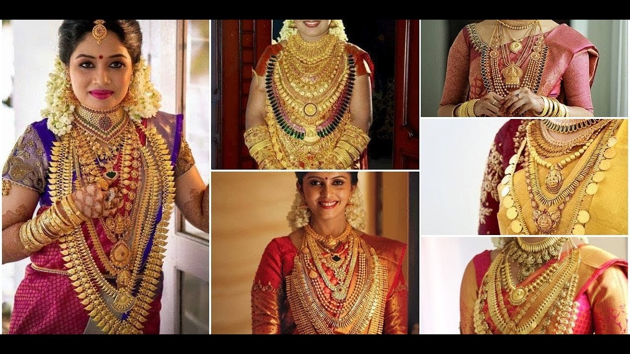 Kerala Bride With Heavy Jewelry|| Kerala Bride Gold Jewelry ...