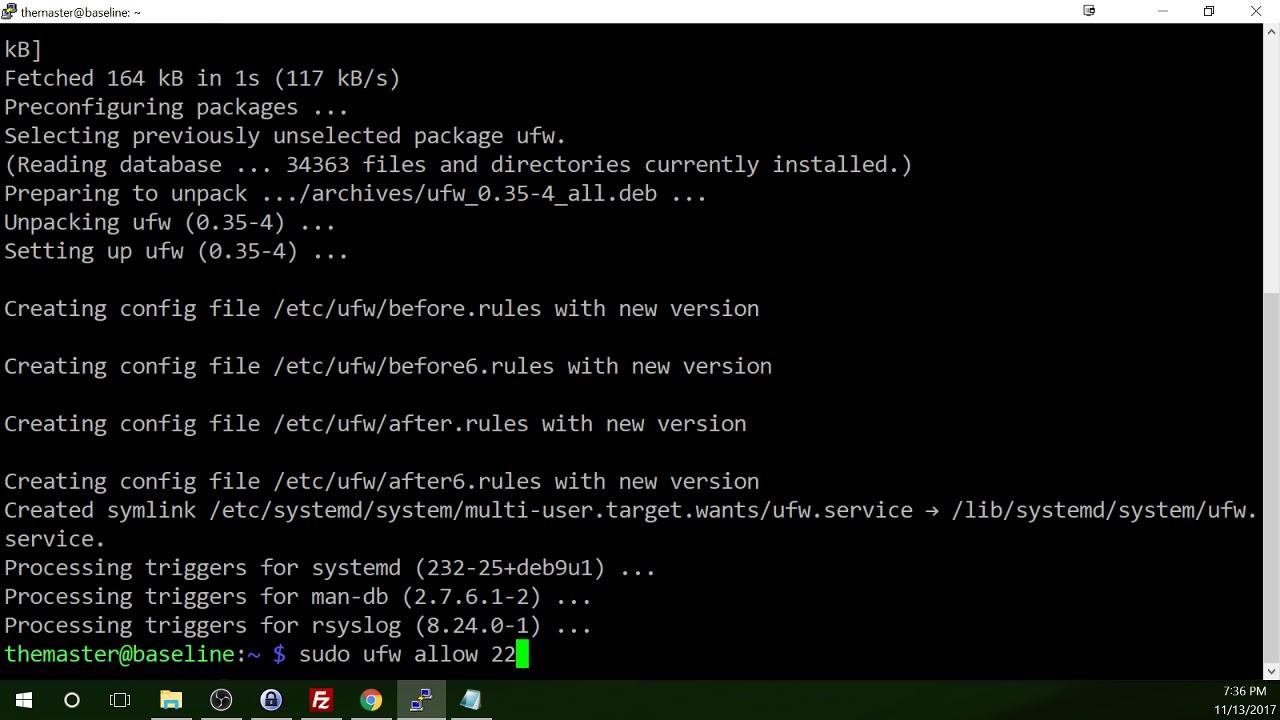 Part 8 of 12 - Raspberry Pi Secure Baseline Setup - Firewall