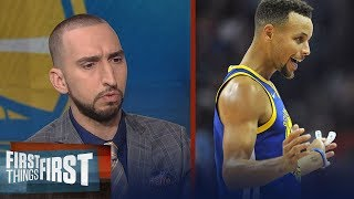 Nick Wright is shocked Steph didn't get suspended for throwing his mouthpiece   FIRST THINGS FIRST