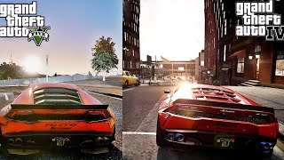 GTA V  Project NVRM vs GTA IV iCEnhancer Ultra Realistic Graphics Comparison 1440p