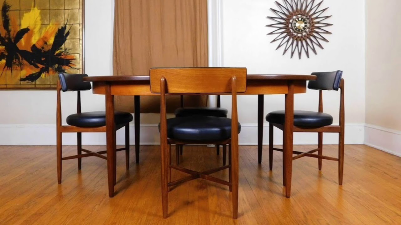 Purevintagenyc etsy g plan mid century modern table 6 chairs
