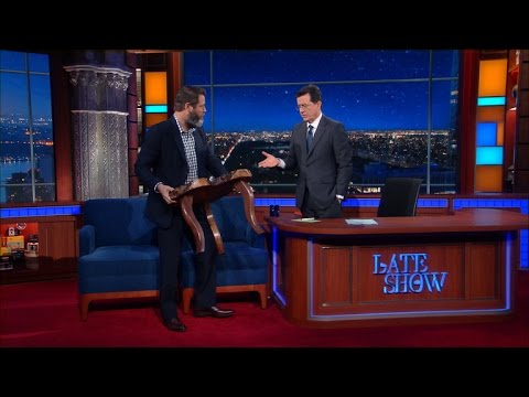 Nick Offerman Built A Table For The Late Show