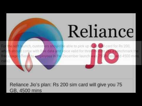 Reliance Jio plan Rs 200 sim card will give you 75 GB, 4500 mins Tariff