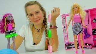 Видео для девочек. Барби и Маша украшают комнату к празднику.