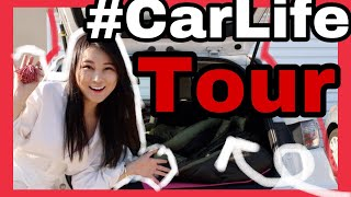 How to Sleep in a Car: My Setup + Living In Car Tour with Lexus CT 200h Hatchback | Cherry Tung