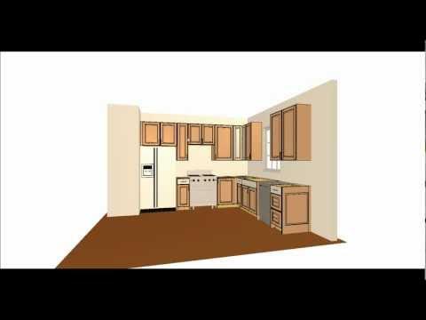 simple kitchen layout