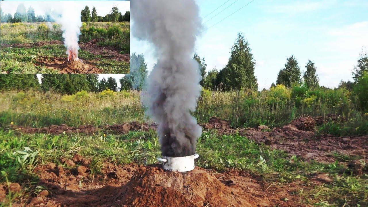 Вулкан из Калиевой селитры. Селитра + сахар и уголь. Горение селитры. Burning of saltpeter