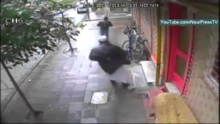The moment of the assassination of Imam Abdullah Bukhari Uzbek in broad daylight in Istanbul