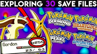 THE MOST HACKED SAVE FILE EVER - EXPLORING x30 POKEMON SAVE FILES! (Part 3)