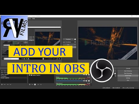 How To Add Your Intro In Your Live Streams With OBS!