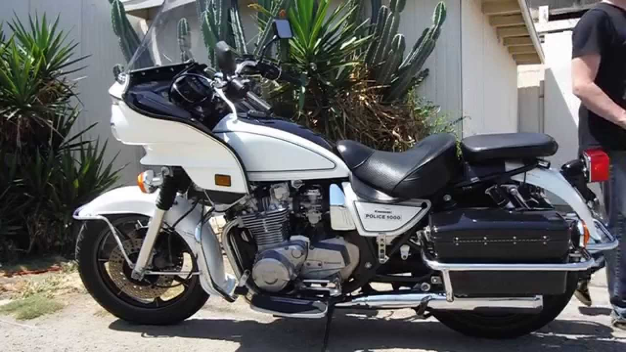 1996 kawsaki kz1000 police issue starting - youtube