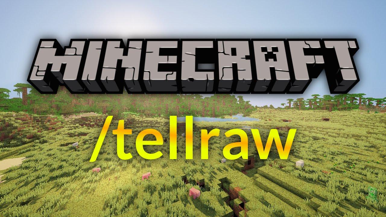 Minecraft /tellraw Command Tutorial [Deutsch/HD]