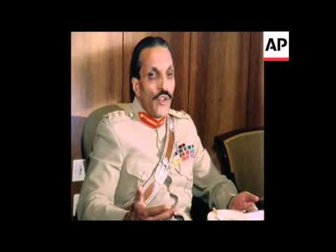 SYND 3 11 77 PAKISTAN LEADER GENERAL HAQ PRESS CONFERENCE IN ANKARA