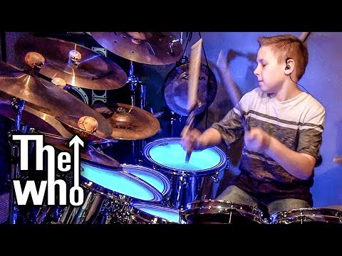 Won't Get Fooled Again (Drum Cover) 10 year old Drummer - Avery Drummer Molek