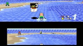 [HD] TAS: SNES Super Mario Kart (USA) in 23:10.88 by Huffers