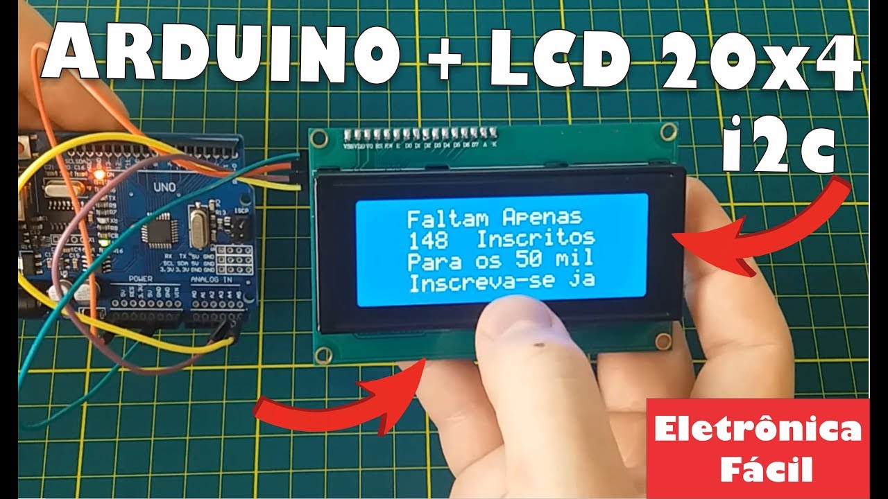 Curso De Arduino Display De Lcd I2c 20 X 4 Eletrônica Fácil