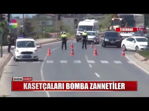 Kasetçaları Bomba Zannettiler