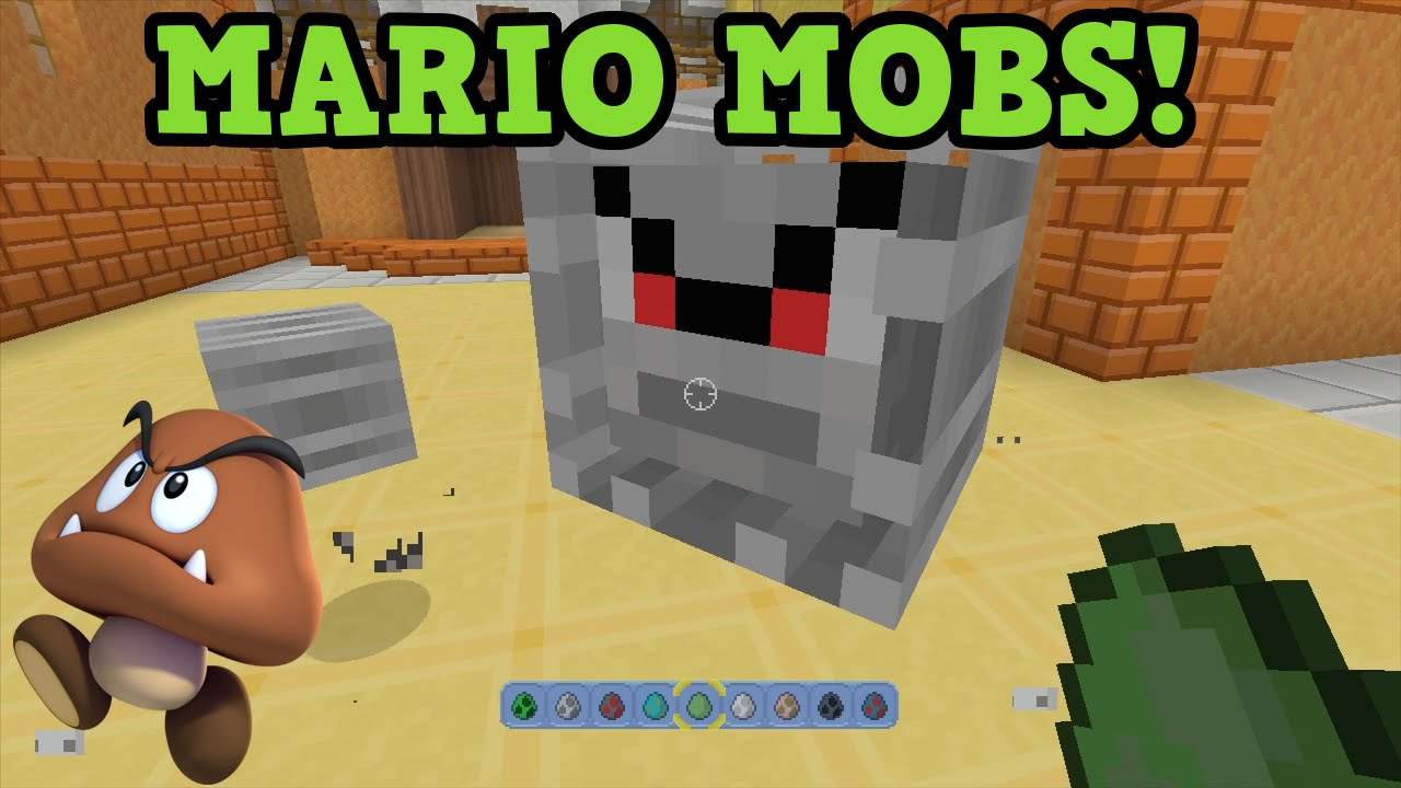 ALL Mario Mobs In Minecraft Wii U Skins YouTube - Skins para minecraft wii u edition