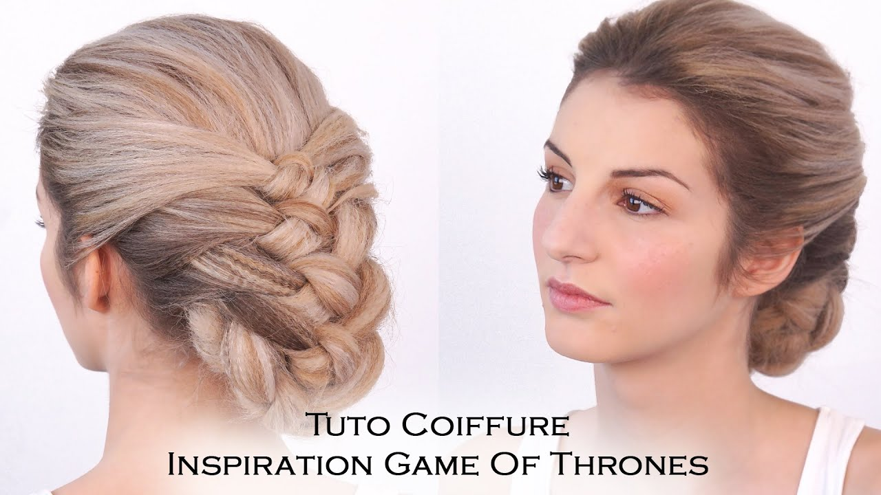 Tuto coiffure chignon tresse inspiration daenerys youtube - Coiffure mariage tresse ...