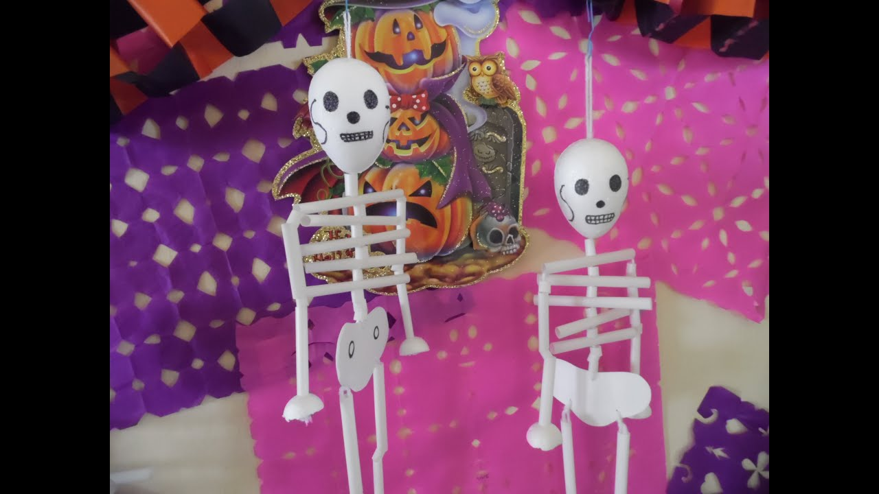 Calacas idea de decoraci n para halloween youtube for Decoracion de halloween