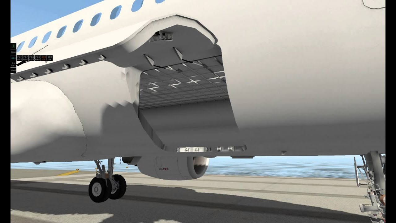 A320 Neo Cargo Door Animation Test Youtube