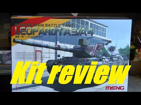 Kit review: Meng Leopard 1 A3/A4 in 1/35 scale