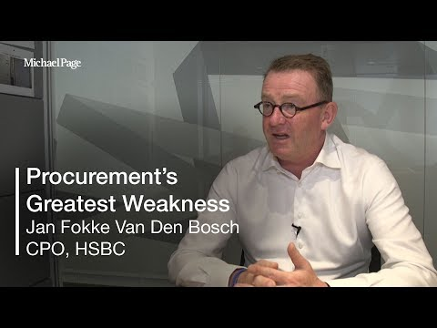What do you believe is procurement's greatest weakness? | Ja