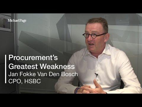 What do you believe is procurement's greatest weakness? | Jan Fokke Van Den Bosch, CPO, HSBC