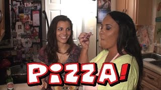 Two Italian Girls Making Homemade Pizza! My First Cooking Video Ever!