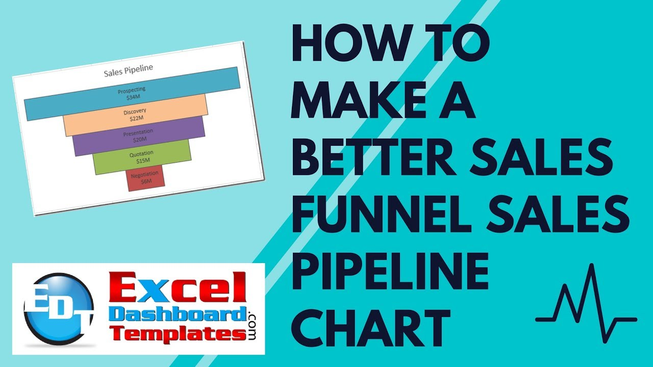 how to make a better excel sales funnel sales pipeline chart youtube