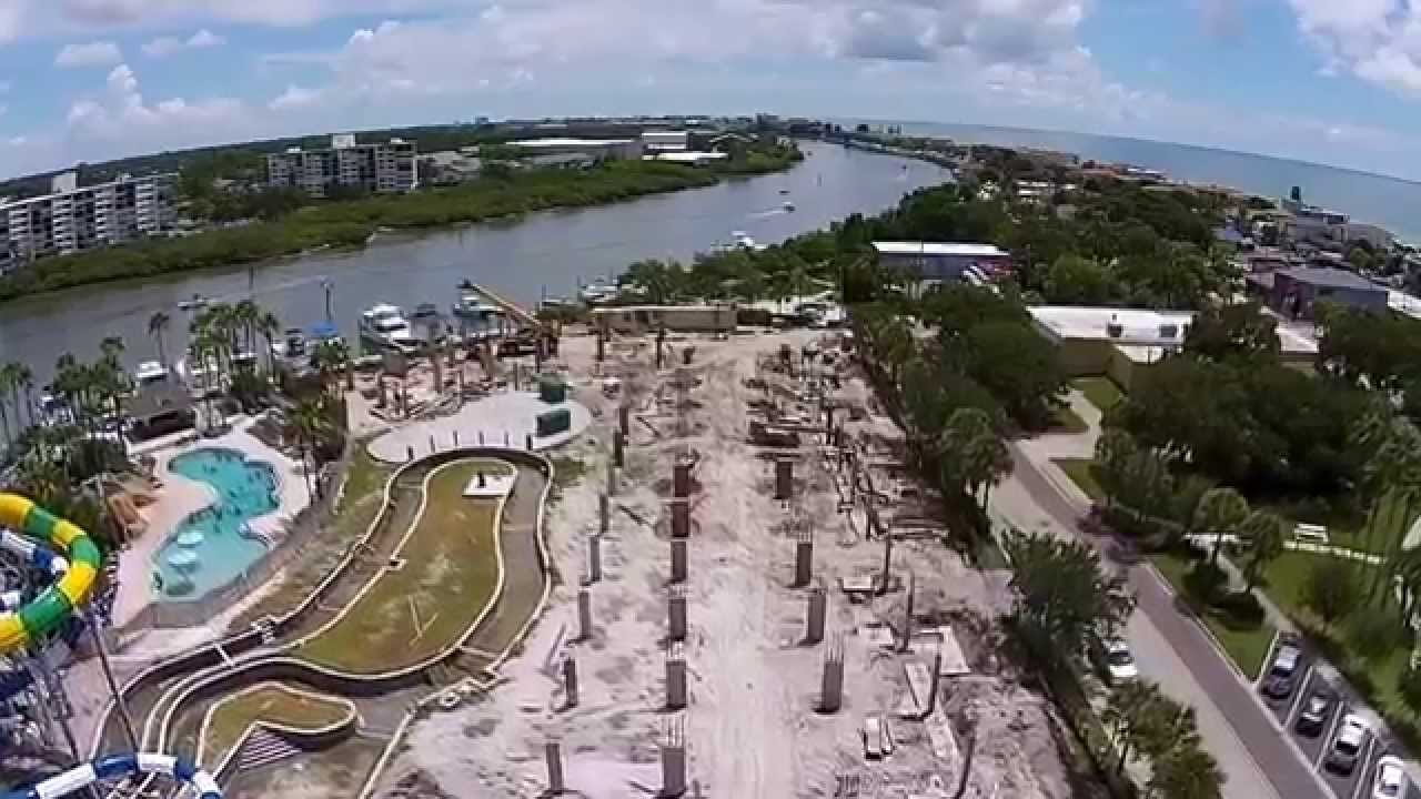 Hamlin S Landing Water Park Construction 2017 Indian Rocks Beach Aerial View You
