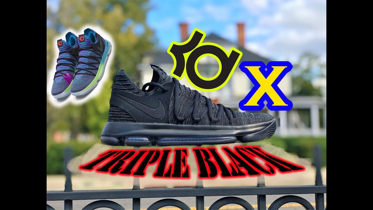 new style 0b406 3d214 KDX (10) Triple Black | REVIEW & On Feet |Best Basketball Shoe!? | RARE KDX  Doernbecher Released?