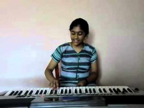 hindi song tujhe dekha to ye jaana sanam from [d d l j] on keyboard by s.mythily