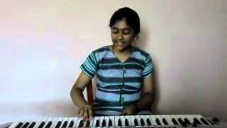 hindi song tujhe dekha to ye jaana sanam from [d d l j] on keyboard by s.mythily