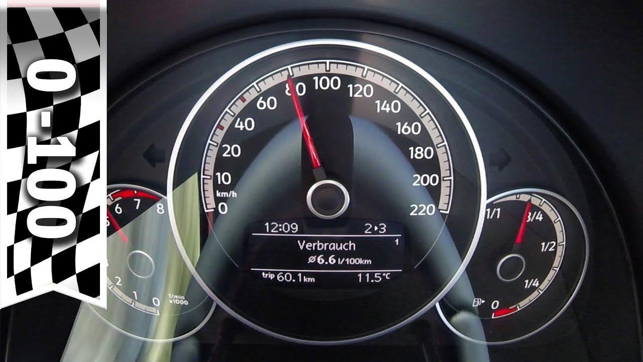 VW up GTI 0 100 km h Beschleunigung & Sound Tachovideo