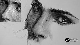 Рисуем нос в реальном времени. Как штриховать портрет